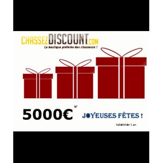 CHEQUE CADEAU 5000€...