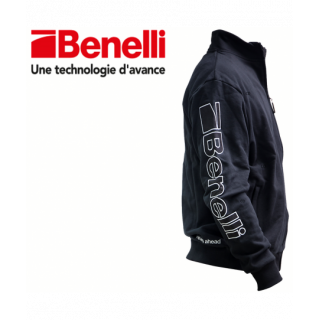 SWEAT ZIPPE BENELLI NOIR