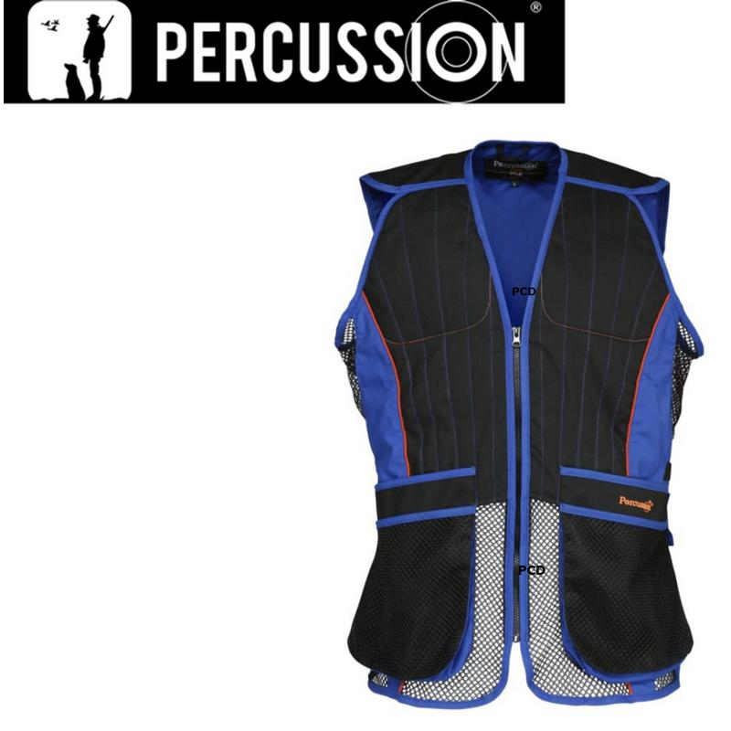 Gilet ball-trap Noir et bleu Percussion-S Percussion