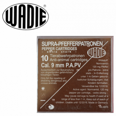 CARTOUCHES WADIE 9MM PA PV...