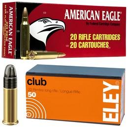 Munitions de tir 22LR, 22 HORNET, 22 Win Magnum