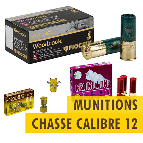 Munitions chasse Calibre 12