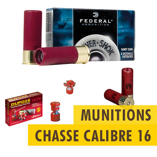 Munitions chasse Calibre 16