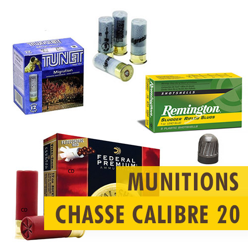 Munitions chasse Calibre 20