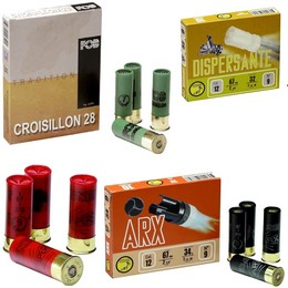 Munitions Calibre 16 Croisillon, ARX et dispersantes