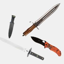 Dagues de chasse et machettes